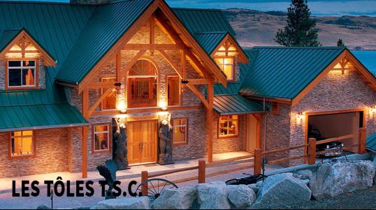 Vente de Tôles pour toitures, murs, intérieur, extérieur résidentiel commercial, Les tôles T.S.C. inc. installation, vente, pliage, livraison de tôle et d'acier